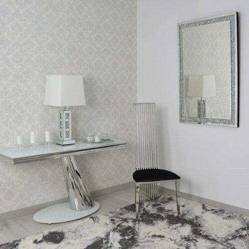Bellacasa Konsola glamour dorado ii - stal szlachetna blat szklany nowoczesny (5908273391397)