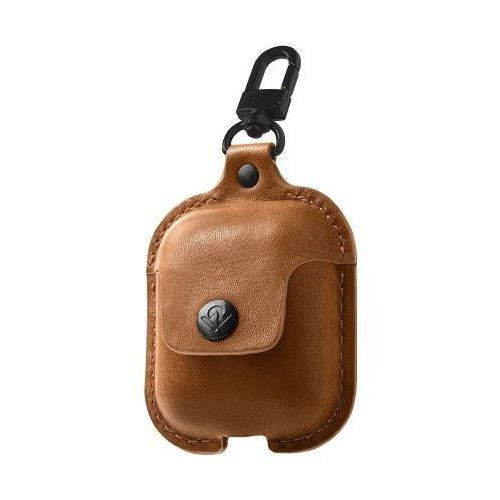 TWELVE SOUTH AirSnap for AirPods | Cognac leather, AIRSNAP CGNC