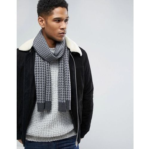 Original Penguin Houndstooth Scarf - Grey