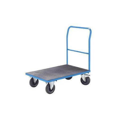 Wózek platformowy, pałąk rurowy, ogumienie pełne, dł. x szer. 1250x800 mm, jasno