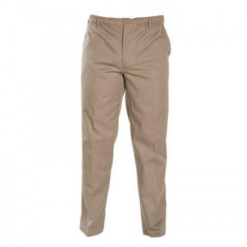 D555 basilio duże spodnie męskie beżowe, Duke