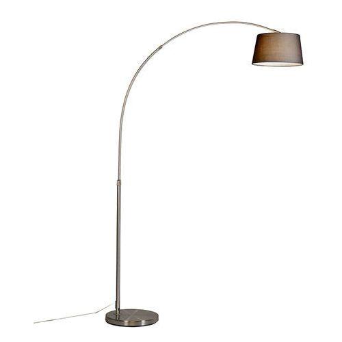 Lampa podlogowa luk Eco stal, klosz z tkaniny czarny