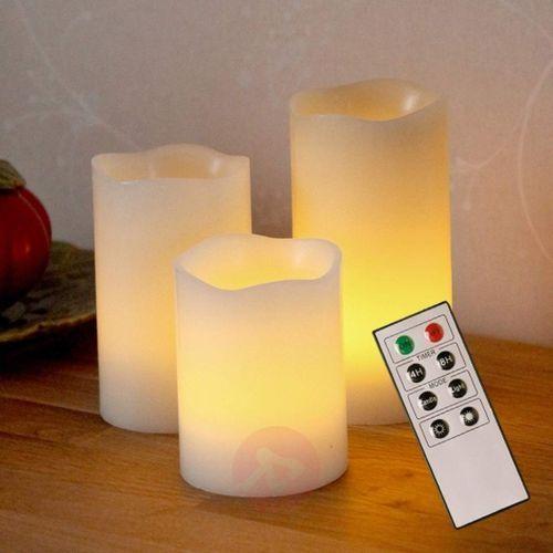 Świece dekoracyjne led candle wax z wosku marki Best season