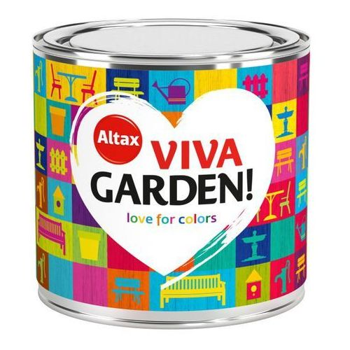 Farba Ogrodowa Viva Garden 0,25L Limonkowy Ciemiernik Altax, kolor Limonkowy