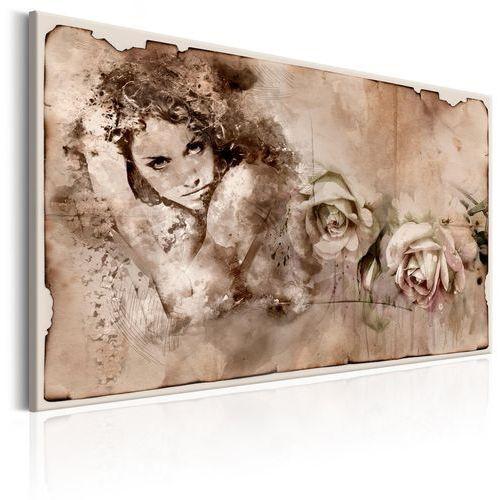 Obraz - styl retro: kobieta i róże marki Artgeist