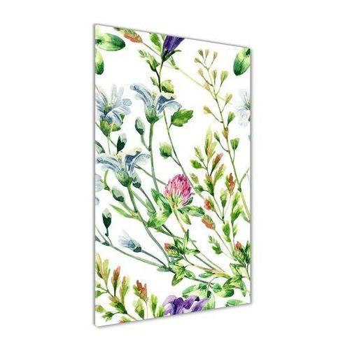 Nowoczesny fotoobraz akrylowy Polne kwiaty