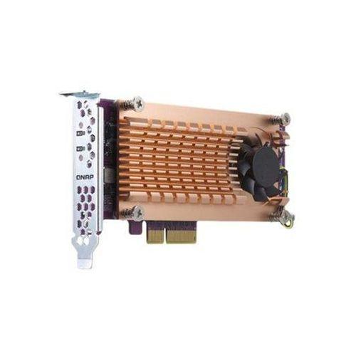 Karta rozszerzeń do serwera NAS QNAP QM2-2P-344 PCI-E x4 Gen 3 2x M.2 NVME 22110/2280 LP, m5b0c0f6b0ea53