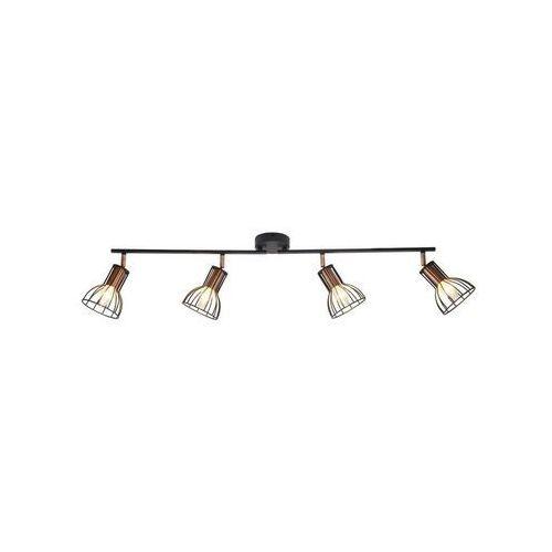 Polux Listwa reflektorowa sofia czarna / miedź e14 (5901508310965)