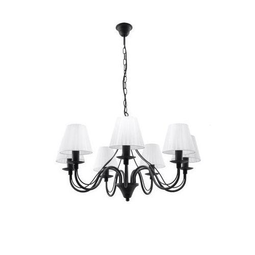 Lampa wisząca MINERWA abażur 7 Czarny marki Sollux Lighting model SL.0564