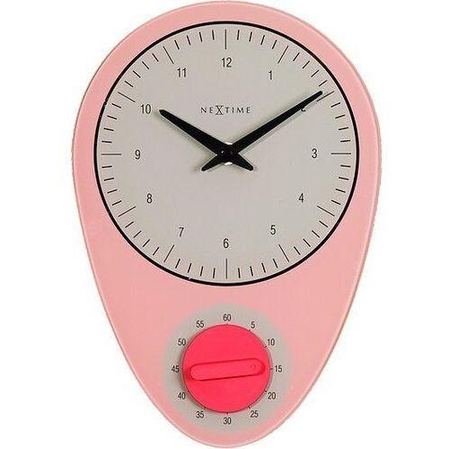 Zegar ścienny Hans różowy, 3097rz