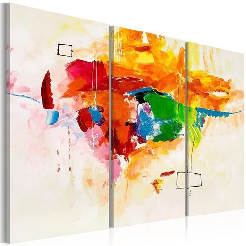 Obraz malowany - Papuga