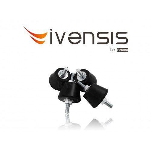 Podkładki gumowe, antywibracyjne, stożkowe z gwintem m8 (fas10) marki Ivensis