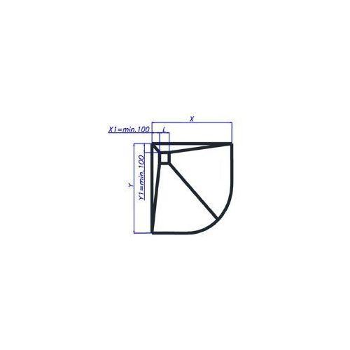 Wiper Showerbase płyta prysznicowa z wpustem punktowym OW 150x90 cm, OW15090