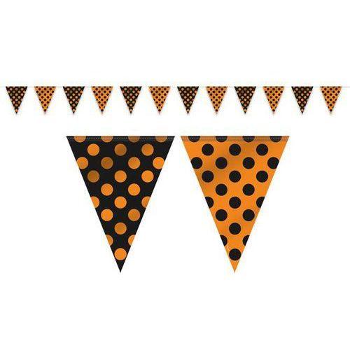 Baner flagi pomarańczowo - czarny w kropki - 365 cm - 1 szt.