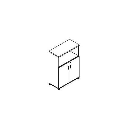Regał częściowo zamknięty h34 wymiary: 80,2x38,5x112,9 cm marki Svenbox
