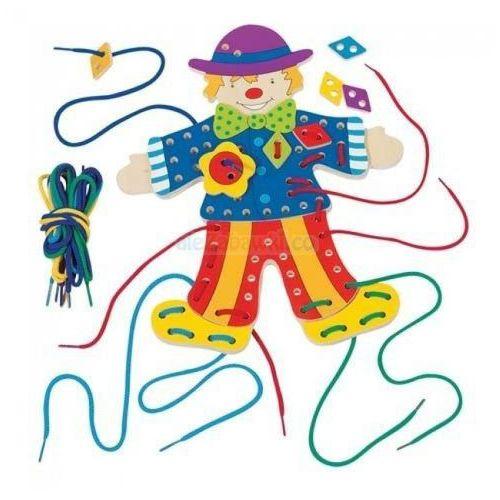 Sznurowanka, postać Klauna, manulana zabawa, Goki 58943