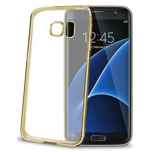 Etui na smartfon CELLY Laser Cover do Samsung Galaxy S7 Edge Złoty BCLS7EGD