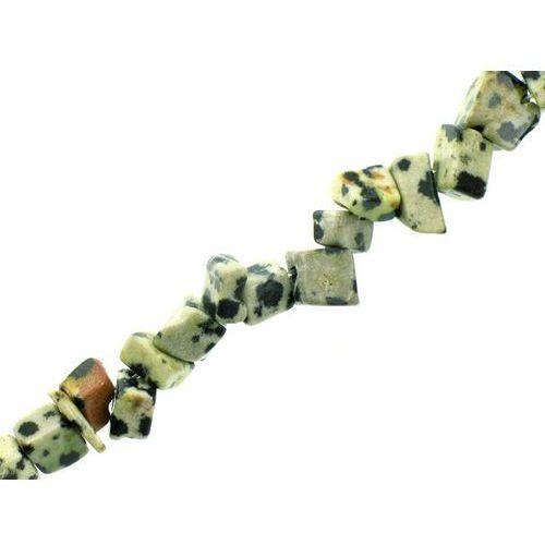 Kamień Jubilerski Jaspis Dalmatyńczyk Sieczka Drobna 3~7mm 20szt
