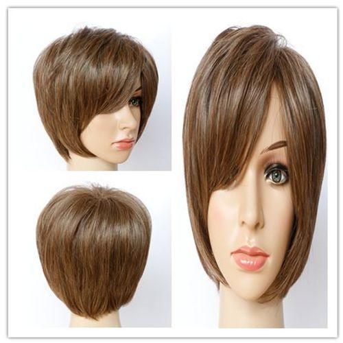 Short shaggy mixed color side bang synthetic hair wig od producenta Sammydress