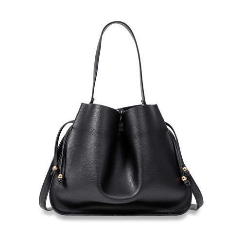 Mała torebka na ramię ze szlufką bonprix czarny, kolor czarny
