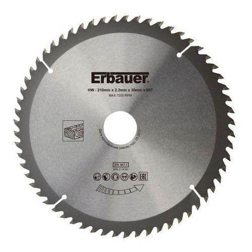 Tarcza do drewna 210 x 30/25/20/16 mm 60t marki Erbauer