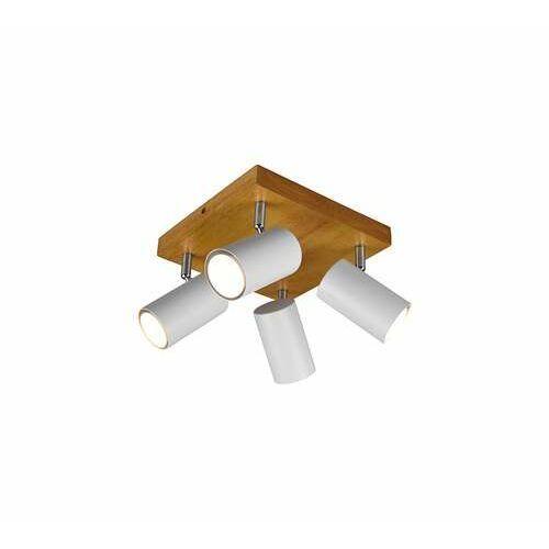 marley 812400431 plafon lampa sufitowa 4x35w gu10 biały mat/drewno marki Trio