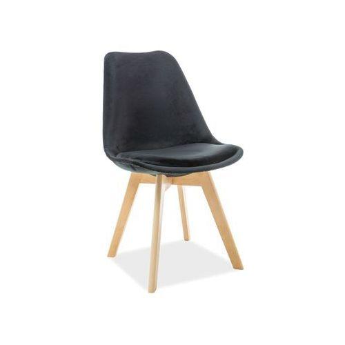 Krzesło drewniane dior velvet buk - czarny tap. 105 - złap rabat: kod30 marki Signal