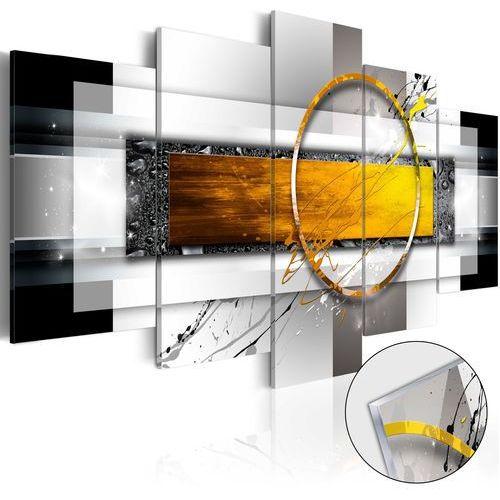Artgeist Obraz na szkle akrylowym - złocisty strzał [glass] bogata chata