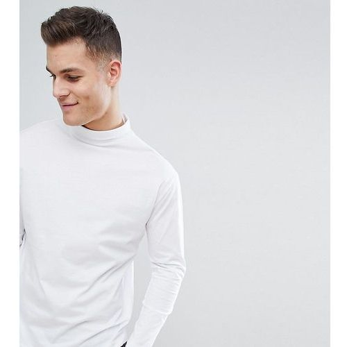 Noak T-Shirt With Turtle Neck And Long Sleeves - White, w 7 rozmiarach