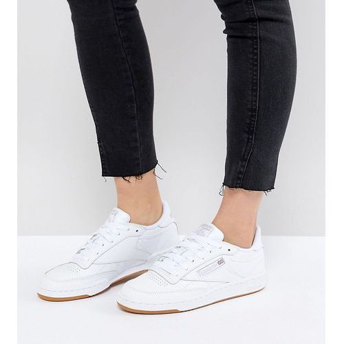9396d5598c102 classic club c 85 trainers in white leather with gum sole - white marki  Reebok