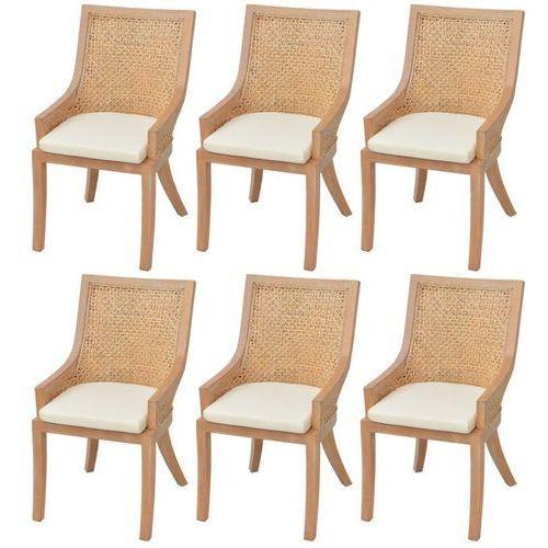 Krzesła jadalniane rattanowe 6 szt.