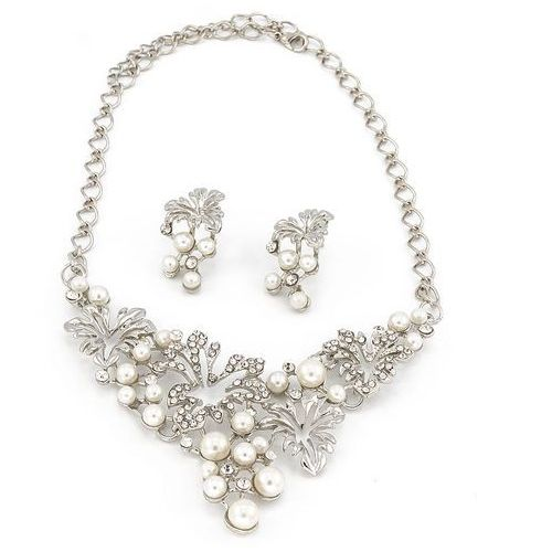 Naszyjnik kolczyki delikatny srebrny - srebrny z kategorii Komplety biżuterii
