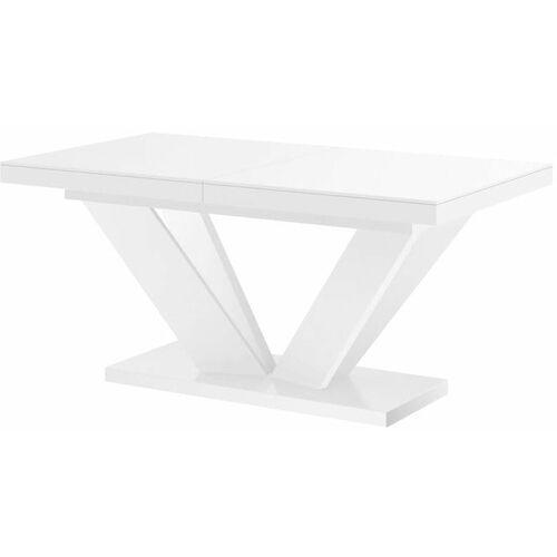 Stół rozkładany VIVA 2 160-256 biały połysk