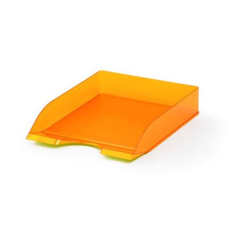 Półka na dokumenty Durable Basic przezroczysta pomarańczowa
