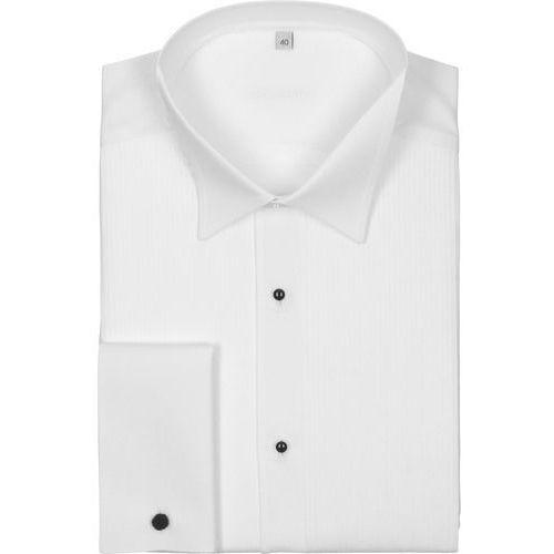 koszula smokingowa1 9001 długi rękaw custom fit biały, bawełna