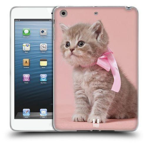 Etui silikonowe na tablet - koty kotek z różową kokardką marki Head case