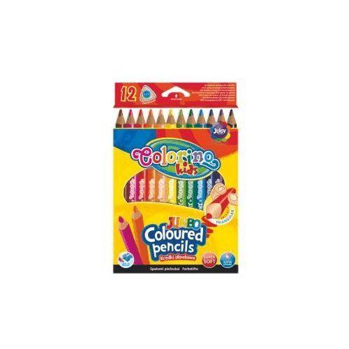 Kredki ołówkowe trójkątne 12 kolorów Jumbo Colorino