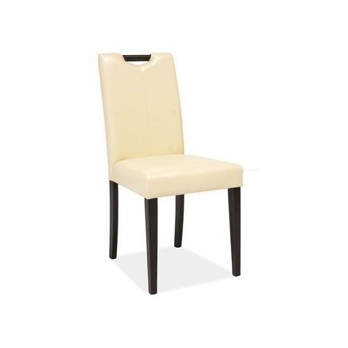 Nowoczesne krzesło CD-76 krem/venge, CD-76 CR/V
