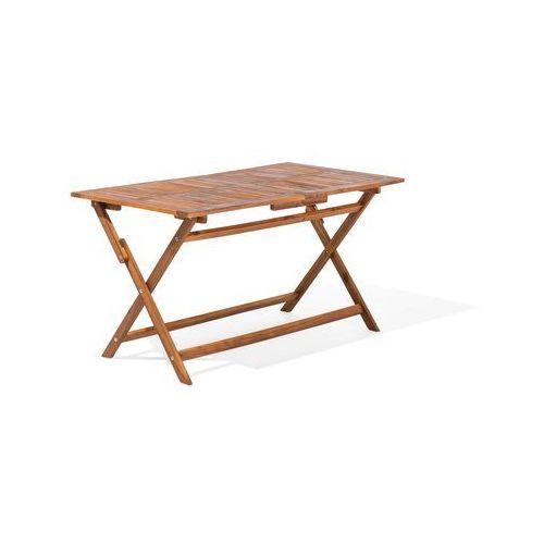 Beliani Zestaw ogrodowy drewniany 6-osobowy cento (4260586353389)