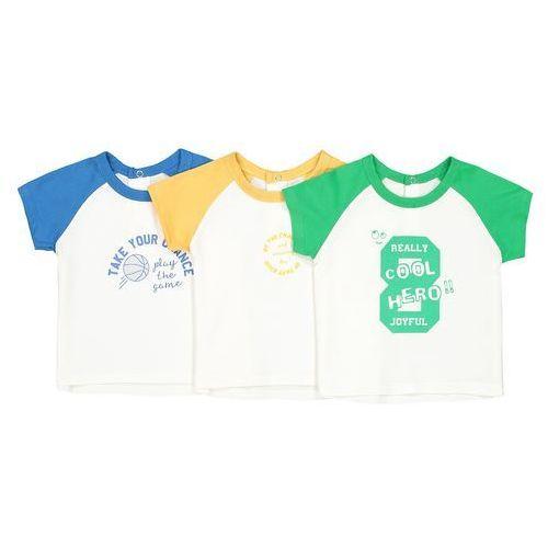 Komplet 3 trójkolorowych koszulek - 1 miesiąc - 3 lata marki La redoute collections