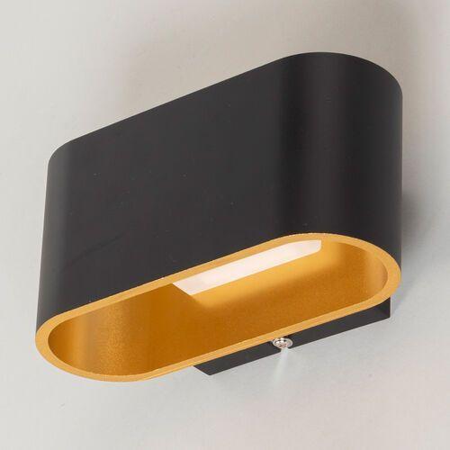 Kinkiet WOFI DENZEL LED Czarny, 1-punktowy - Nowoczesny - Obszar wewnętrzny - DENZEL - Czas dostawy: od 2-3 tygodni (4003474357317)