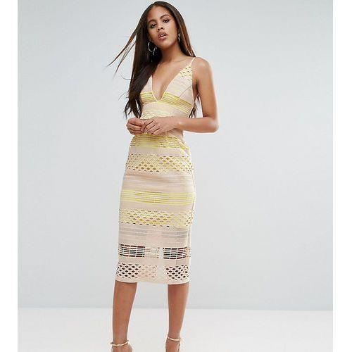 hitchcock graphic lace midi pencil dress - white, Asos tall