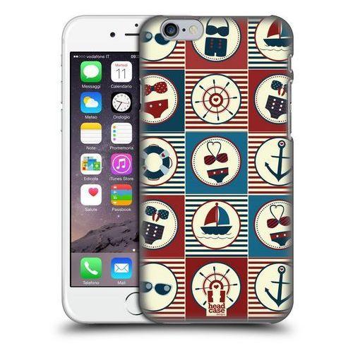 Head case Etui plastikowe na telefon - nautical summer dark blue and red