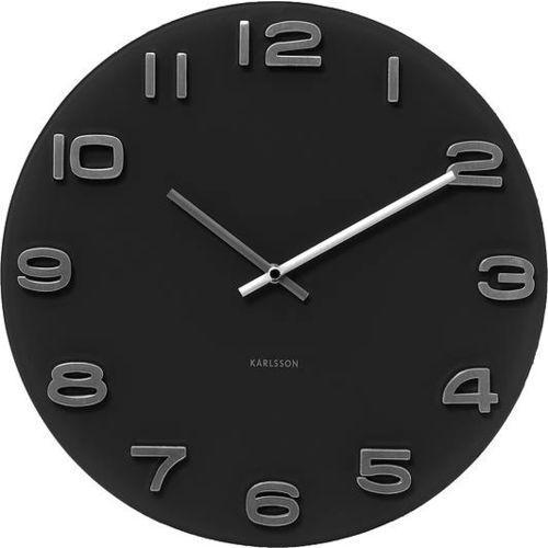 Zegar ścienny Vintage okrągły czarny, KA4401