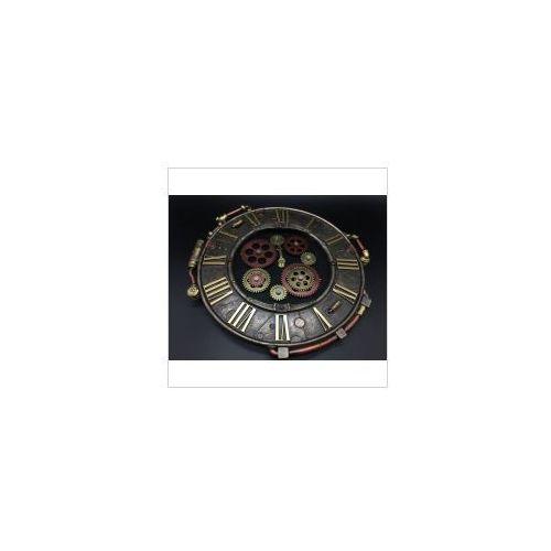 Veronese Steampunk piękny okrągły zegar vereonese (wu77228a4)
