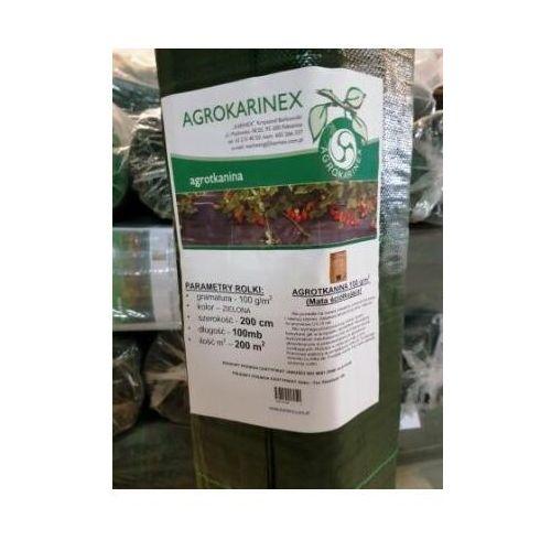 Agrotkanina zielona 100 g/m2, 1,0 x 100 mb. Rolka, AGROTKANINA ZIELONA 100/100 rolka