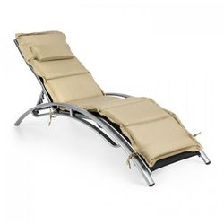 Blumfeldt intermezzo leżak do opalania aluminium tapicerka pu beżowy (4260486158251)
