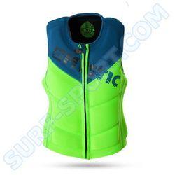 Kamizelka Mystic Star 2016 Wake Vest ZIP Green - szczegóły w Surf-Sport.Com