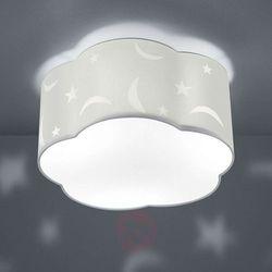 Lampa sufitowa Moony, dziecięca, biała