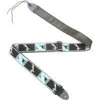 Fender Monogrammed blk/grey/blue pasek